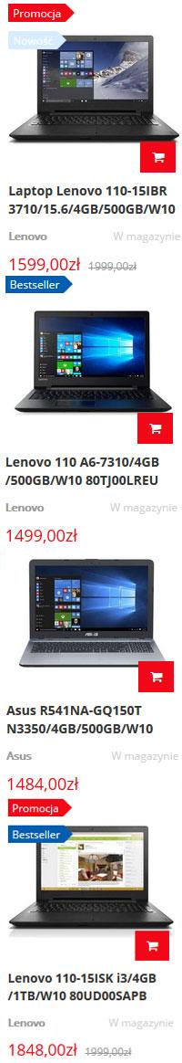 laptopy i notebooki Asus sklep